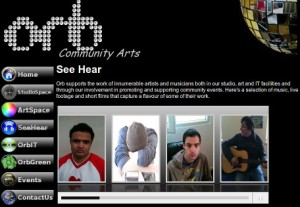 A screenshot of the new audio and video section on the Orb web site